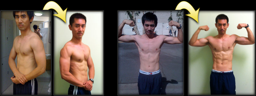 build muscle before and after client