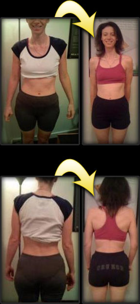 Woodland Hills personal training client Julie before and after