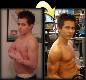 before and after personal trainer client